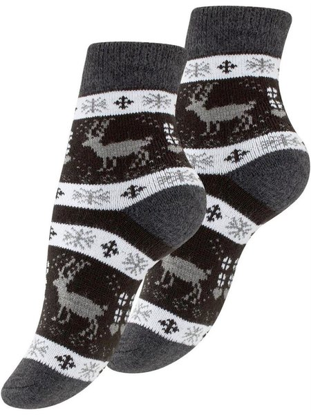 Damen Thermo-Socken mit  Winter Motiven